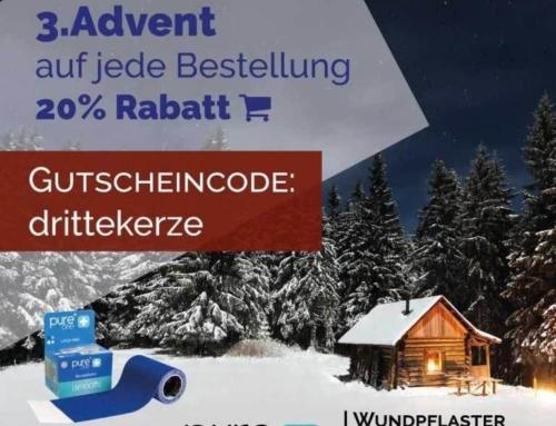 3. Advent 2016 Rabattaktion. 20% auf jede Bestellung